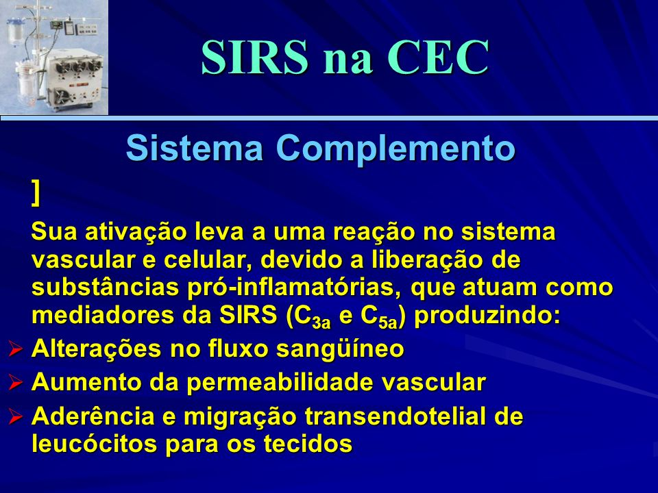 SIRS na CEC Sistema Complemento ]